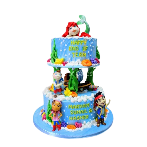 Remarkable Ariel And Jake Neverland Pirates Cake Personalised Birthday Cards Fashionlily Jamesorg
