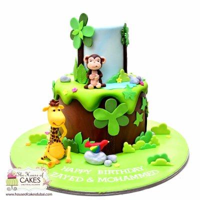 Jungle animals cake 6