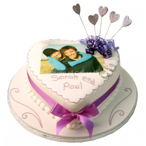 Heart Cake with photo 2