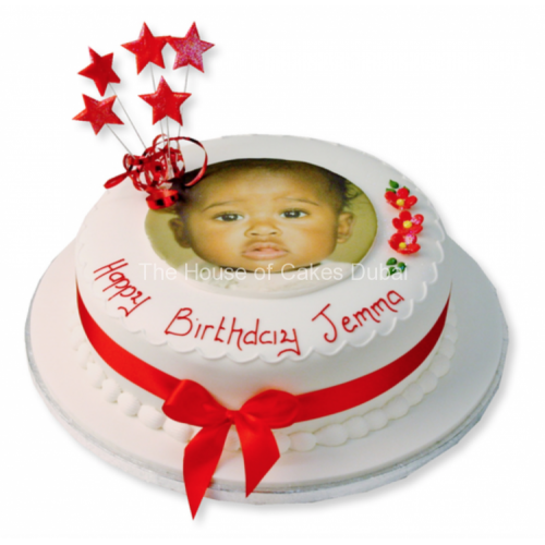 Round cake with photo 1