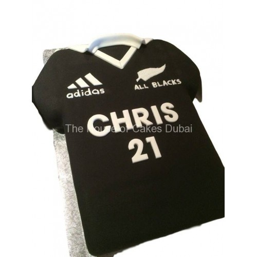 All Blacks Sport Shirt Cake
