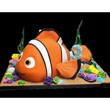 cake nemo 3d shape 6