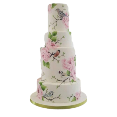 birds and flowers cake 2 6
