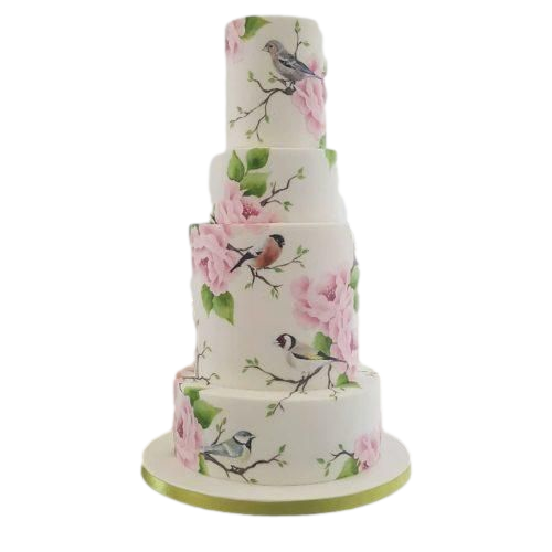 birds and flowers cake 2 7