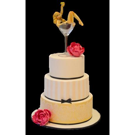 girl in martini glass cake 6