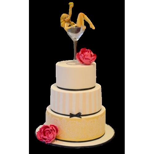 girl in martini glass cake 7