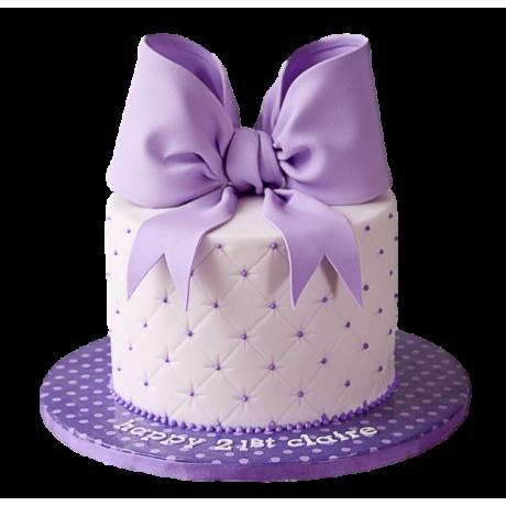 purple bow cake 6