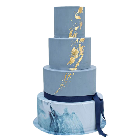 blue and gold cake 2 12