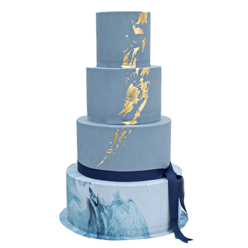 blue and gold cake 2 13