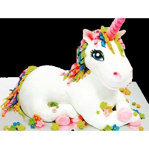 3d unicorn plush toy cake 13