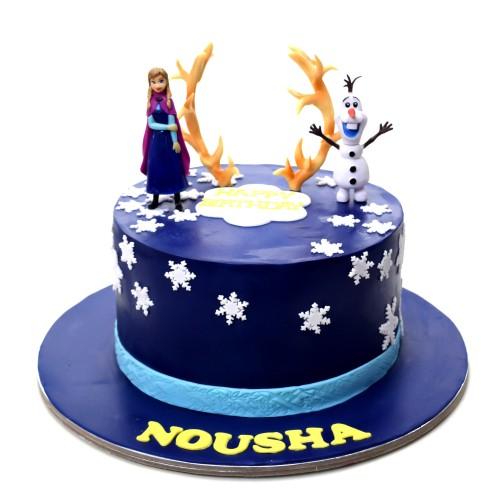 frozen theme cake 33 7