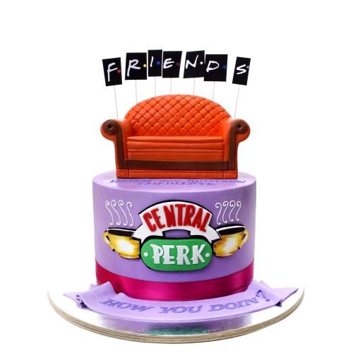 friends cake 5 7