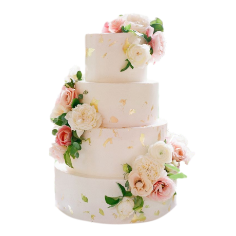 gorgeous cake with pink flowers 6