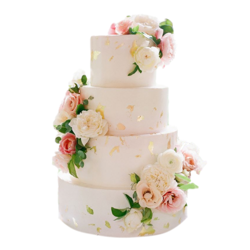 gorgeous cake with pink flowers 7