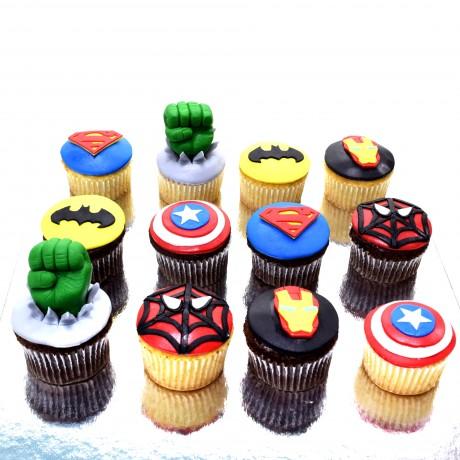 avengers superheroes cupcakes 4 12
