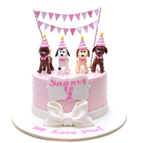 cake with puppy dogs 13