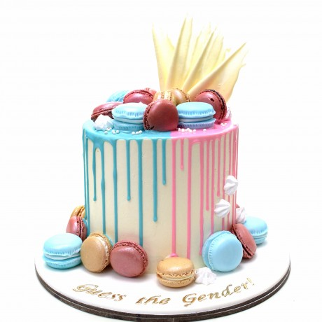 pink and blue drip cake 12