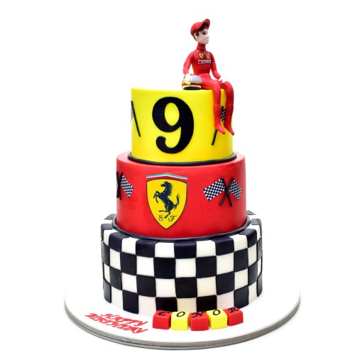 ferrari theme cake 7