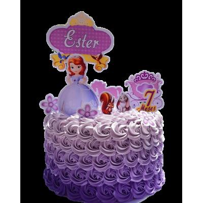 Sofia the First cake 8