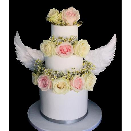 angel wings cake 6