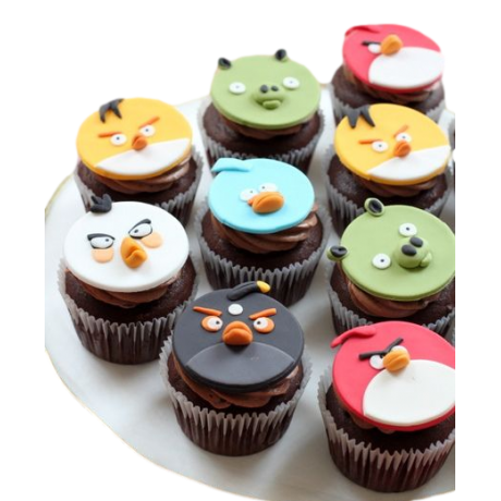 angry birds cupcakes 6