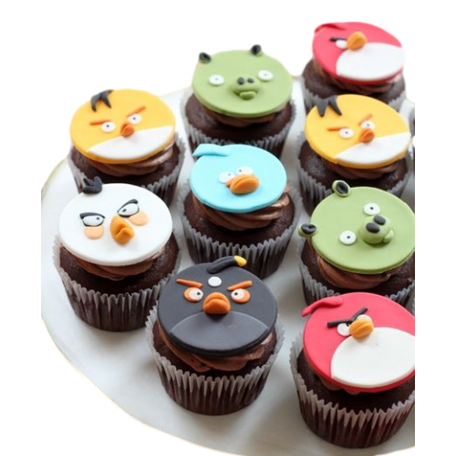angry birds cupcakes 7