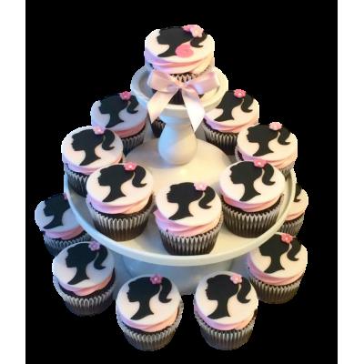 Barbie cupcakes 1