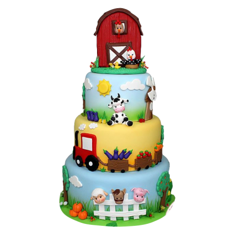 farm animals cake 12 12