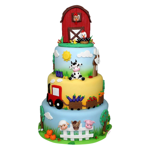farm animals cake 12 13