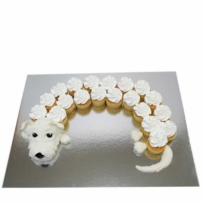 Cute cupcakes dog white