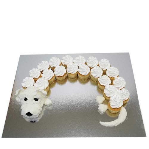 cute cupcakes dog white 7
