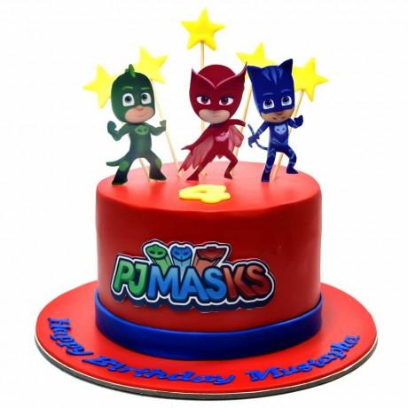 pj masks cake 9 6