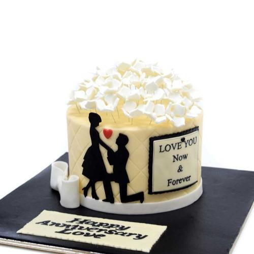 anniversary cake 6 7