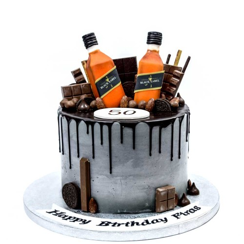 drip cake with chocolates and whiskey 7