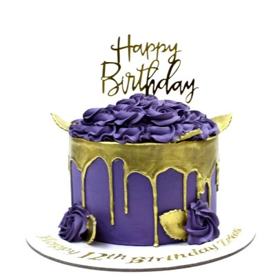 Purple and gold cake 2