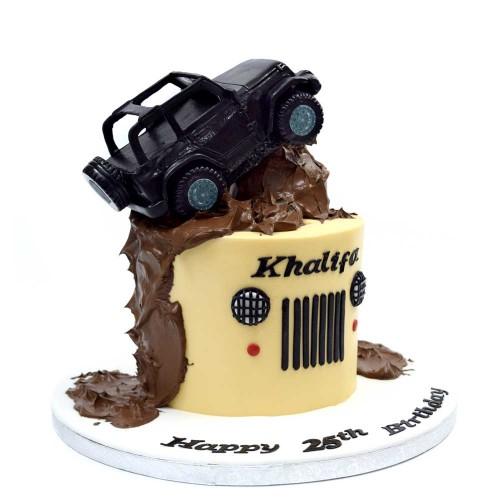 jeep on mud cake 7