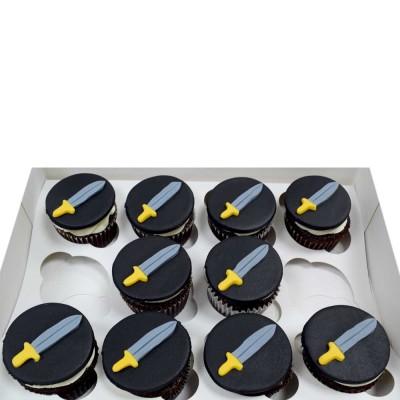 Sword cupcakes