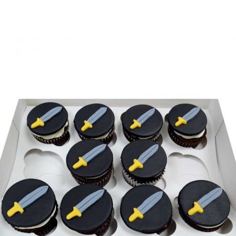 sword cupcakes 12