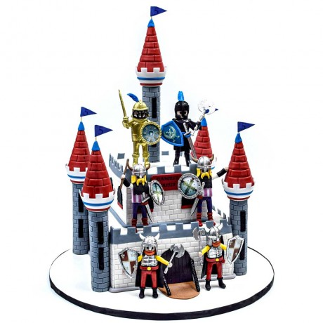 middle ages medieval castle cake 6