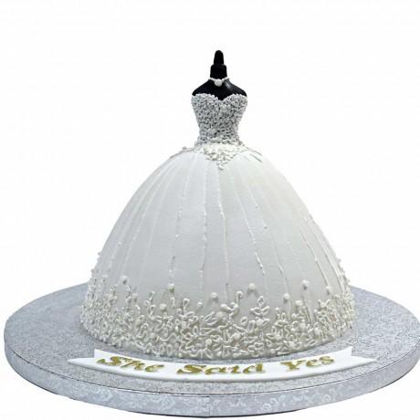 bridal dress cake 6 6