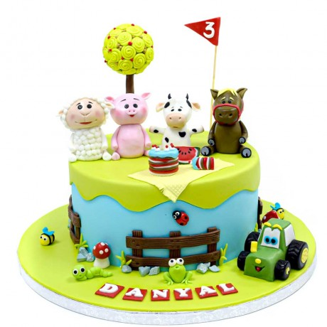 farm animals cake 8 12