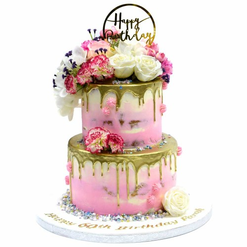 gold drip cake 1 7