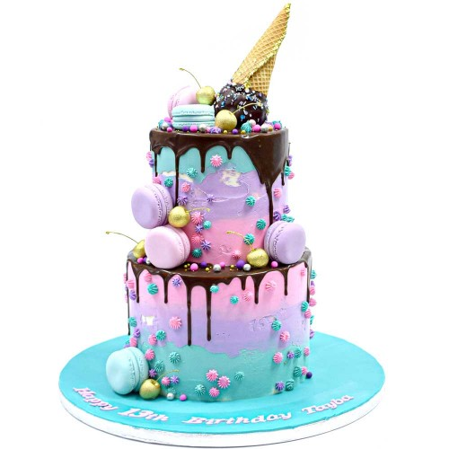 dripping and ice cream cake 7