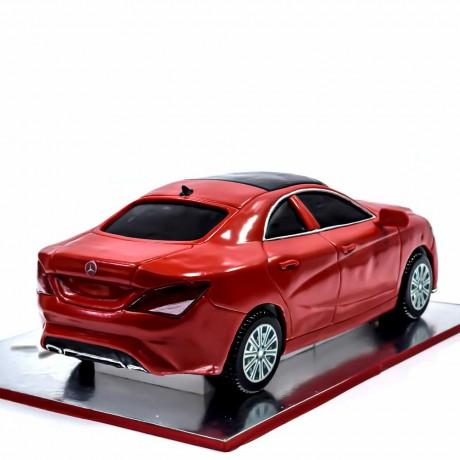 mercedes car cake - metallic red 7