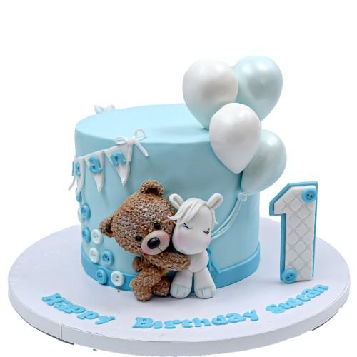 cute bear and unicorn cake 8
