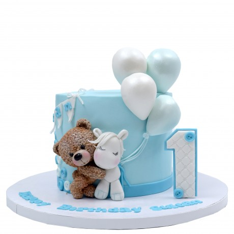 cute bear and unicorn cake 7
