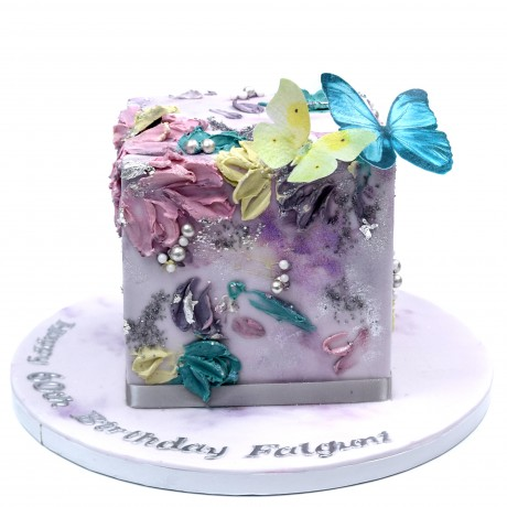 Modern Buttercream Cube Cake