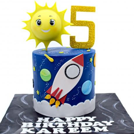 rocket ship cake 12