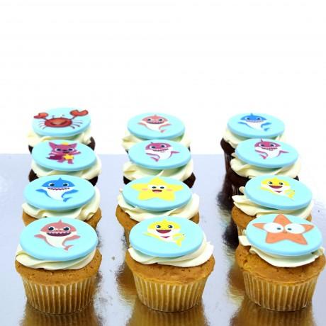 baby shark cupcakes 12