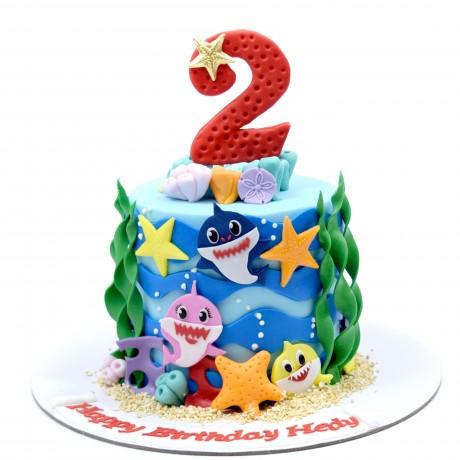 baby shark cake 6 6